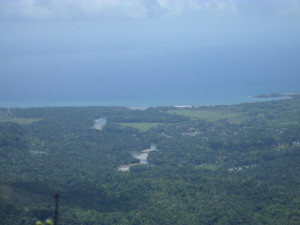 En la cima del Yunque